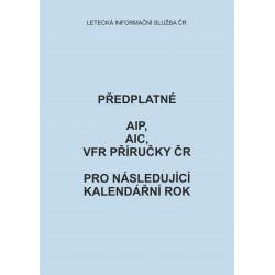 Ceny předplatného AIP, AIC a VFR příručky ČR