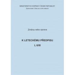 Předpis L 6/III, zm. č. 18-A a opr. č.5/ČR