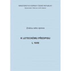 Předpis L 10/III, zm. č. 88 a opr. č. 3/ČR