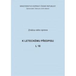 Předpis L 18, zm. č. 10 a opr. č. 1/ČR