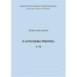Předpis L 15, zm. č. 37 a 4/ČR