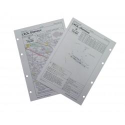 Letecká mapa - formát A5