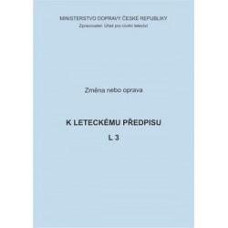 Předpis L 3, zm. č. 1/ČR