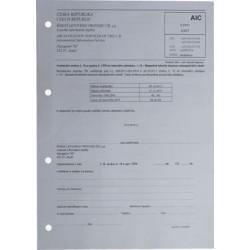 Cena za jeden volný textový list AIC, formát A4