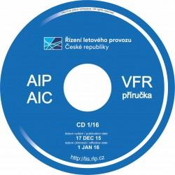 Čtvrtletní předplatné AIP, AIC a VFR příručky ČR na CD