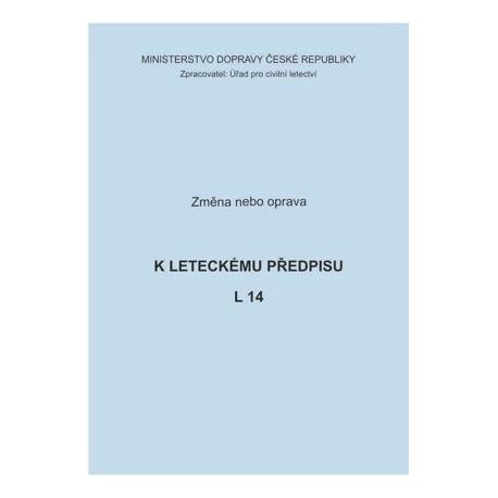 Předpis L 14, zm. č. 7/ČR a opr. č. 3/ČR