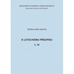 Předpis L 14, zm. č. 14, 8/ČR a opr. č. 4/ČR