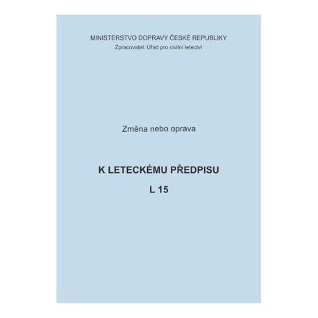 Předpis L 15, zm. č. 8/ČR