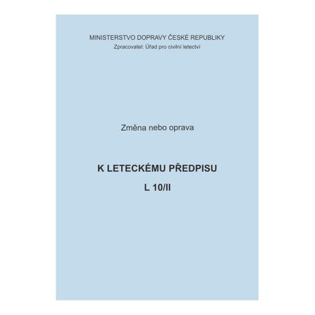 Předpis L 10/II, zm. č. 92