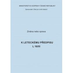 Předpis L 16/III, zm. č. 1