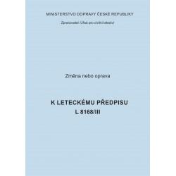 Předpis L 8168/III, zm. č. 1
