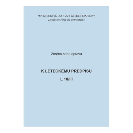 Předpis L 10/III, opr. č. 1/ČR