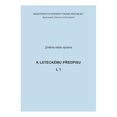 Předpis L 1, zm. č. 11/ČR