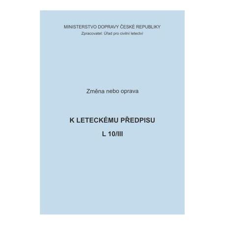 Předpis L 10/III, zm. č. 2/ČR