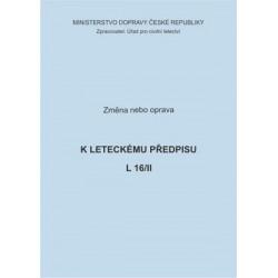 Předpis L 16/II, zm. č. 8 a opr. č. 1/ČR