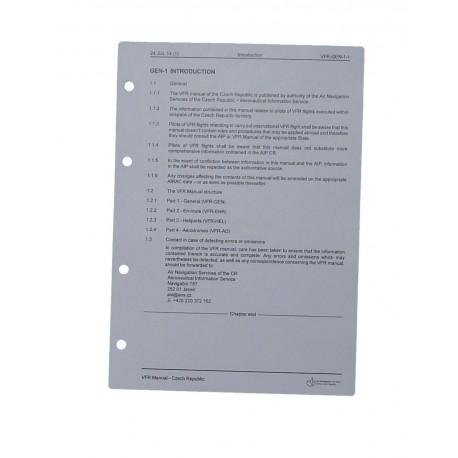 1 list VFR příručka, formát A5